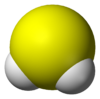 Model 3D molekul hidrogen sulfida