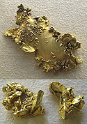 bongkahan emas