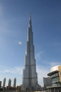 Burj Dubai, the present tallest man-made structure in the world.