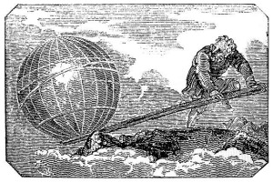 Arhimedes Trying to Lift The Earth